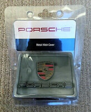 Load image into Gallery viewer, RARE OEM PORSCHE METAL TOW HITCH COVER CAYENNE MACAN NEW!