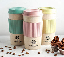 Load image into Gallery viewer, Panda Cup Eco Friendly Reusable Coffee Cup with Lid for Travel To Go Sustainable Organic Bamboo Fiber BPA Free Dishwasher and Microwave Safe Portable Eco Cup 16oz/450ml size (Blue)