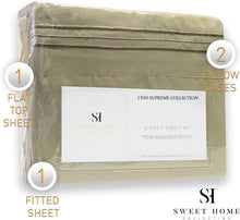 Load image into Gallery viewer, 1500 Supreme Collection Extra Soft Queen Sheets Set, Sage - Luxury Bed Sheets Set With Deep Pocket Wrinkle Free Hypoallergenic Bedding, Over 40 Colors, Queen Size, Sage