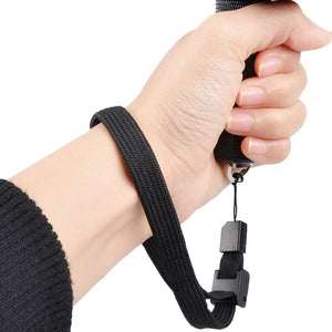 Wrist Strap Hand Lanyard Adjustable Slider Lock for Nintendo Wii Sony Remote Controller Cell Phone Camera USB Flash Drive Black - 2 Piece