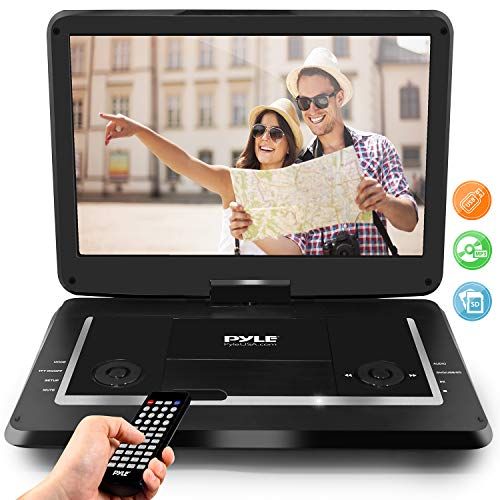 "Pyle 17.9"" Portable DVD Player, With 15.6 Inch Swivel Adjustable Display Screen, USB/SD Card Memory Readers, Long Lasting Built-in Rechargeable Battery, Stereo Sound  with Remote. (PDV156BK) 15"