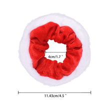 Load image into Gallery viewer, 12 Pcs Premium Large Size Holiday Hair Scrunchies,Cute Christmas Seasons Scrunchies With Gift Bag, Great Fun and Festive for, Party,Dinner,photos booth.