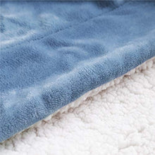 Load image into Gallery viewer, Bedsure Sherpa Fleece Blanket Throw Size Slate Blue Plush Throw Blanket Fuzzy Soft Blanket Microfiber