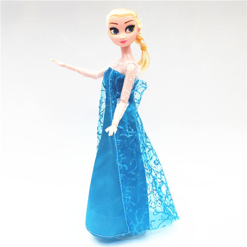 Elsa Cosplay Outfits Clothes Set for 1/6 BJD SD Doll Clothes Accessories Play House Dressing Up Costume Kids Toys Gift