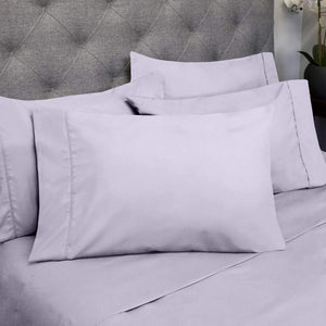Sweet Home Collection Quality Deep Pocket Bed Sheet Set - 2 EXTRA PILLOW CASES, VALUE, Twin, Lilac, 4 Piece