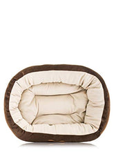 Load image into Gallery viewer, Petmate Aspen Pet Oval Cuddler Pet Bed for Small Breeds 20-inch by 16-inch Chocolate Brown 26944 20 inch by 16 inch