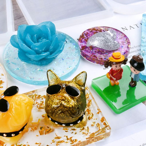 DIY Handmade Crafts Making Silicone Mould Crystal Epoxy Mold Cloud Heart Shape Square Molds