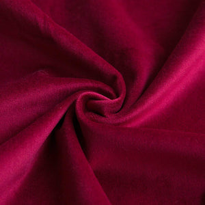 MIULEE Pack of 2 Velvet Pillow Covers Decorative Square Pillowcase Soft Soild Wine Red Cushion Case for Sofa Bedroom Car 22 x 22 Inch 55 x 55 cm