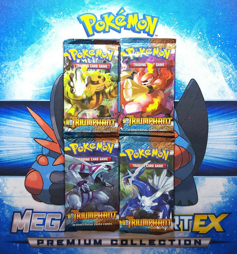 Vintage Pokemon Booster Packs HS Triumphant Sealed x 4 Collectible Rare Find!!