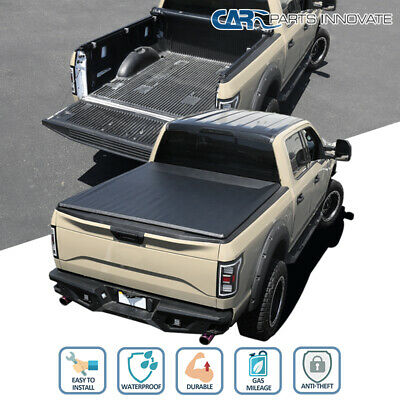 For 07-19 Toyota Tundra CrewMax 5.5' Short Bed Black Vinyl Roll Up Tonneau Cover