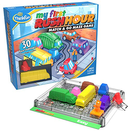 Think Fun My First Rush Hour STEM Toy and Brain Game for Boys and Girls Age 3...
