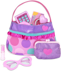 Play Circle by Battat – Princess Purse Set – 8-piece Kids Play Purse and Accessories – Pretend Play Purse Set Toy with Pretend Makeup For Kids Age 3 Years and Up