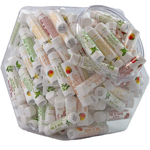 All-Natural Beeswax Lip Balm by Naturistick. 150-Stick Assorted Bulk Pack in Display Fishbowl. Best Moisturizing Chapstick for Healing Dry, Chapped Lips. For Men, Women and Children. Made in USA