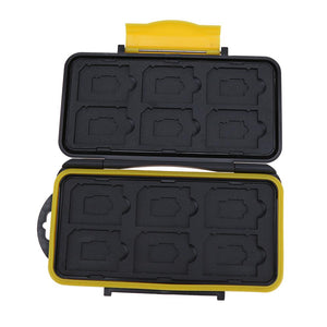 Large Capacity 12 Slots Waterproof Memory Carase For SD/Micro SD/TF Cards Storage Holder Box Protector Cover