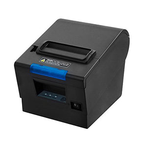 3'1/8 80mm Thermal Receipt Printer, MUNBYN POS Printer with Auto Cutter, USB Serial Ethernet Windows Driver ESC/POS RJ11 RJ12 Cash Drawer 80mm Classic Receipt Printer