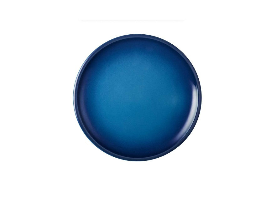 Le Creuset Set of 4 Minimalist Dinner Plates Stoneware   Diameter 27 cm Blueberry