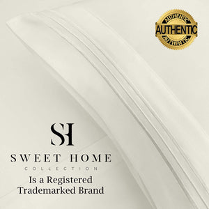 1500 Supreme Collection Extra Soft Full Sheets Set, Ivory - Luxury Bed Sheets Set with Deep Pocket Wrinkle Free Hypoallergenic Bedding, Over 40 Colors, Full Size, Ivory