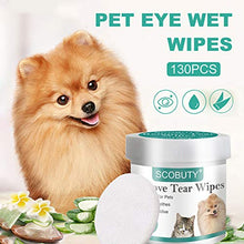 Load image into Gallery viewer, SCOBUTY Pet Eye Wipes,Pet Tear Wipes,Pet Wipes,Eye Tear Stain Remover Wipes for Pets,Natural Tear Eye Stain Remover Pads,Cleansing Eye Wipes,Pet Soft Grooming Wipes