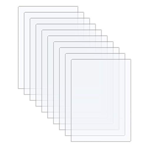 Langaelex 10 Pieces 4'' x 6'' x 0.043'' (Actual Thickness 1.0mm -1.2mm) Acrylic...