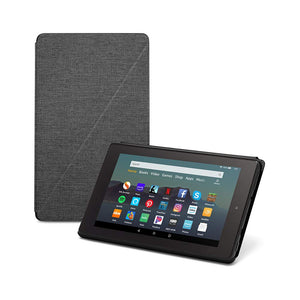 Fire 7 Essentials Bundle including Fire 7 Tablet (Black, 16GB),  Standing Case (Charcoal Black), and Nupro Anti-Glare Screen Protector