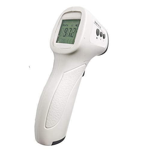YWHSM Digital Infrared Forehead Temperature Display for Adults and Children, contactless Forehead and Ear Temperature LCD Display for Fast Reading (White)