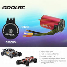 Load image into Gallery viewer, GoolRC S3660 3800KV Sensorless Brushless Motor 60A Brushless ESC and Program Card Combo Set for 1/10 RC Car Truck