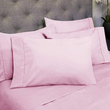 Load image into Gallery viewer, Sweet Home Collection 6PC-SHT-T-PNK 6 Piece 1500 Thread Count Egyptian Quality Deep Pocket Bed Sheet Set-2 EXTRA PILLOW CASES, VALUE- Twin, Pink, 4