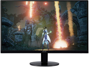 "Acer SB230 Bbix 23"" Full HD (1920 x 1080) IPS Ultra-Thin Zero Frame Monitor with AMD with Basics Single Computer Monitor Stand – Height Adjustable Desk Arm Mount, Steel Bundle"