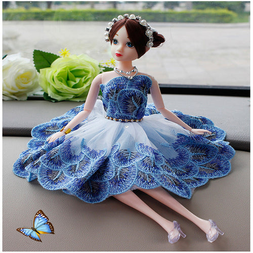 30CM Girl Doll Dress Up Accessories Clothes Wedding Violet Peacock Princess Dress Set Car BJD Doll Girl Toy Clothing Accessories