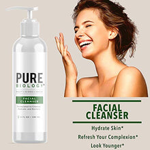 Load image into Gallery viewer, Pure Biology Facial Cleanser with Hyaluronic Acid – Anti Aging Face Wash Helps Minimize Pores & Calm Acne, Smooth Wrinkles & Brighten Complexion for Men & Women of All Skin Types, 6oz Nipple size 06-143