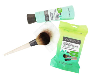 EcoTools Makeup Brush Cleansing Cloths, 25 Count - Quick & Convenient Brush Cleaner