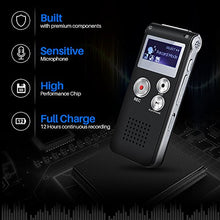 Load image into Gallery viewer, Voice Recorder TOOBOM R01 Digital Voice Activated Recorder - Sound Audio Dictaphone Double Sensitive Microphone Metal Body A-B Repeat Mini Lecture Recorder