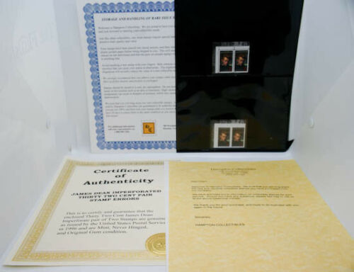 1996 JAMES DEAN IMPERFORATED ERROR US STAMP RARE!! $1500 PAID