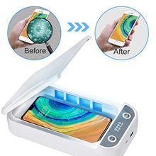 Load image into Gallery viewer, UV Cell Phone Sanitizer, Large Smartphone Sterilizer Box, Aromatherapy Disinfector, UV Light Phone Cleaner with USB Charging for iPhone Android Mobile Phone, AirPods Watch Jewelry Beauty by Mocare White