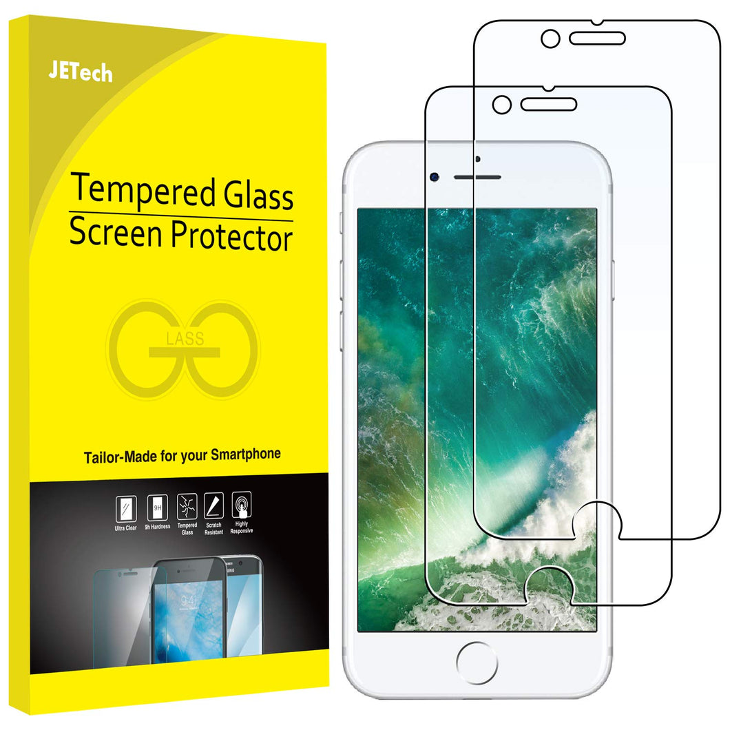 JETech Screen Protector for Apple iPhone 8 Plus and iPhone 7 Plus, 5.5-Inch, Case Friendly, Tempered Glass Film, 2-Pack