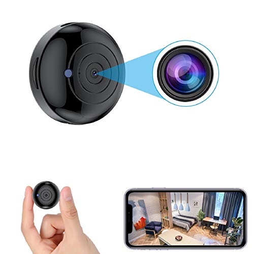 [2021 Version] FECOMI Mini Spy Camera Hidden WiFi Cam 1080P Wireless Small...