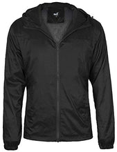 Load image into Gallery viewer, 4HOW Men's Casual Water Resistant Jacket Hooded Windbreaker Breathable Lightweight Stylish Outdoor Quick Dry Rain Coat Black US XL 312s91202c04XL X-Large