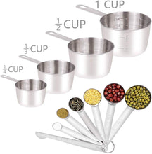 Load image into Gallery viewer, WEPSEN Stainless Steel Mixing Bowls Set Electric Hand Mixer Nesting Bowl Lightweight Mixers Measuring Cups and Spoons Bread Cake Cookies Baking Prepping Milk Frother Kitchen Gadgets Supplies Tools for Starter Beginner
