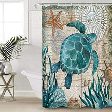 Load image into Gallery viewer, Gogobebe Print Shower Curtain for Kids Bathroom Decor Sea Turtle Ocean Animal Nautical Map Bath Curtain with 12 Hooks, Polyester Waterptoof Fabric, Machine Washable 72x72in GOOYLAHNZP20191022RSLEO03134YLAGGOO Underwater Worldgoo1434