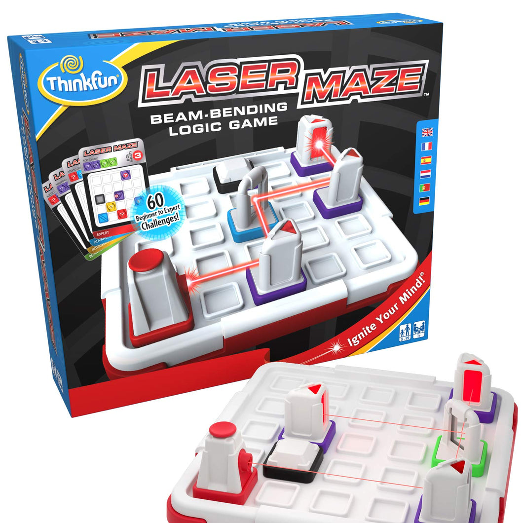 ThinkFun Laser Maze (Class 1) Brain Game and STEM Toy for Boys and Girls Age 8 and Up – Award Winning and Mind Challenging Game for Kids