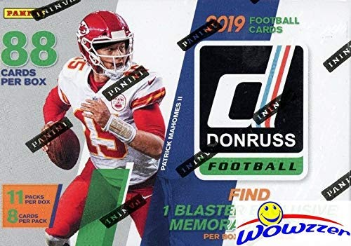 2019 Donruss NFL Football EXCLUSIVE HUGE Factory Sealed Retail Box with MEMORABILIA Card & 11 RATED ROOKIES! Look for RC & Autos of Kyler Murray, Daniel Jones, Dwayne Hoskins,Drew Lock & More! WOWZZER