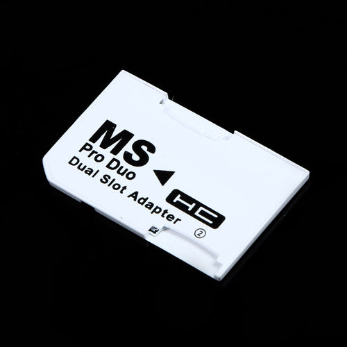 Memory card adapter Dual Slot Micro For SD SDHC TF to Memory Stick MS Card Pro Duo Reader Adapter for windows /Mac os /Linux