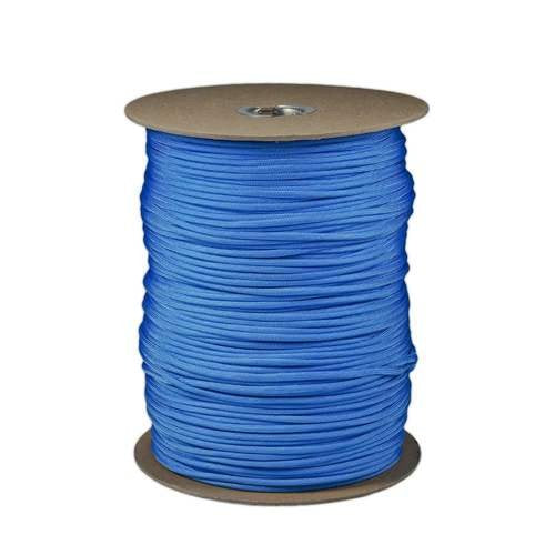 SGT KNOTS Paracord 550 Type III 7 Strand - 100% Nylon Core and Shell 550 lb Tensile Strength Utility Parachute Cord for Crafting, Tie-Downs, Camping, Handle Wraps (Baby Blue - 10 ft)