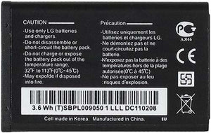 LG LGIP-531A 950mAh Replacement Battery For LG Feacher Flip Phones Black