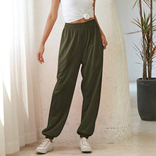 Load image into Gallery viewer, Hessimy Sweatpants with Pockets,Women's Running Jogger Sweatpants Lounge Workout Lightweight Legging Sweat Pants Pockets Army Green Small