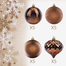 "Load image into Gallery viewer, KI Store Christmas Balls Shatterproof Christmas Tree Ornaments Decorations for Xmas Trees Wedding Party Home Decor (3.15"", Brown)"