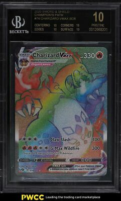 2020 Pokemon Sword & Shield Champions Path Charizard VMAX #74 BGS 10 BLACK LABEL