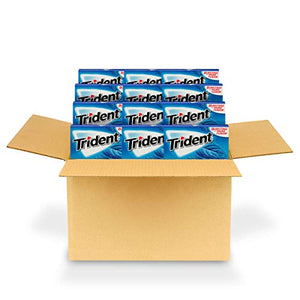 Trident Original Flavor Sugar Free Gum - with Xylitol - 12 Packs (168 Pieces Total) 012546011082