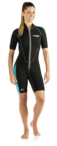 Cressi Lido Short, Black/Aquamarine LV457004 4 x Large