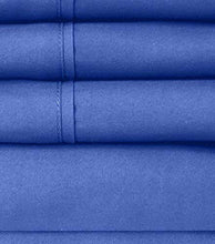 Load image into Gallery viewer, Full Size Bed Sheets - 6 Piece 1500 Thread Count Fine Brushed Microfiber Deep Pocket Full Sheet Set Bedding - 2 Extra Pillow Cases, Great Value, Full, Royal Blue